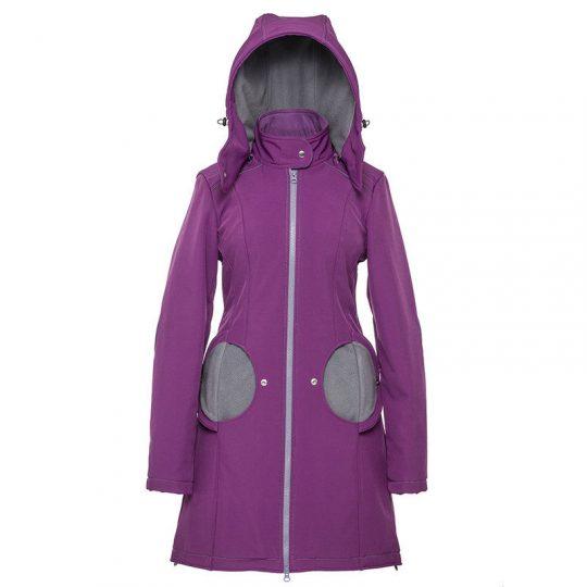 Abrigo de porteo 3 en 1 Liliputi - Violet & Grey-