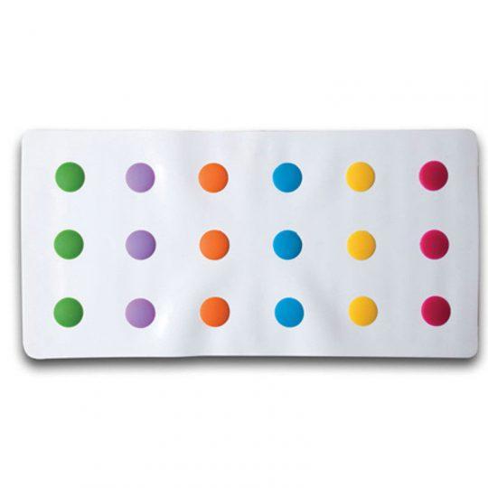 Alfombrilla bañera - Lunares multicolor -