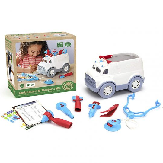 Ambulancia y set doctor de Green Toys