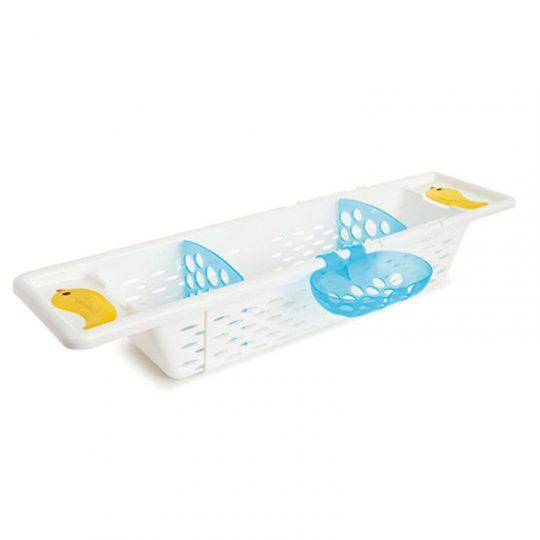 Bandeja ajustable y antideslizante para bañera