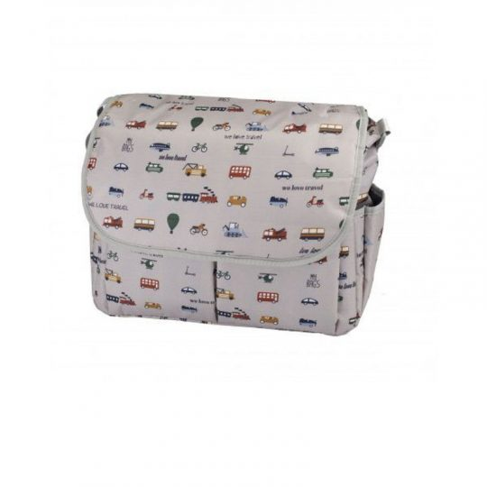 Bandolera para Carro con Cambiador - We Love Travel Gris -