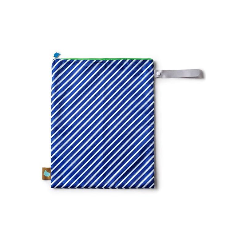Bolsa para muda o pañales rayas azul y blanco