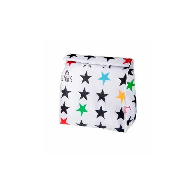 Bolsa de merienda Stars White
