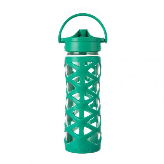 Botella 470 ml Lifefactory Axis Straw Cap - Acuatic Green -