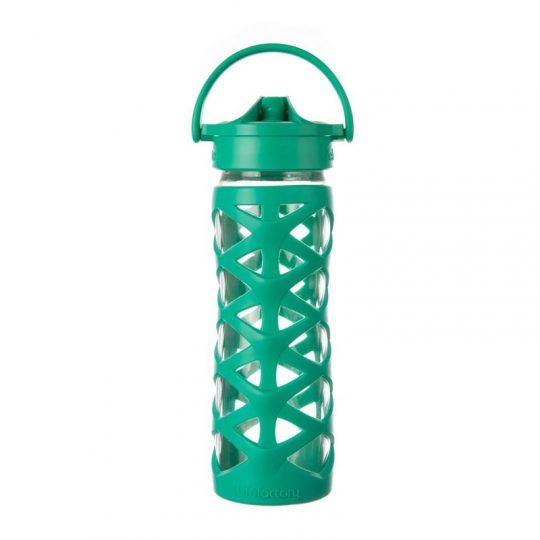 Botella 470 ml Lifefactory Axis Straw Cap - Acuatic Green -