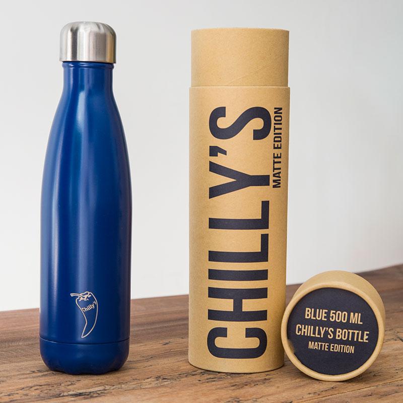 Botella Isotérmica Edición Matte - Azul 500 ml -