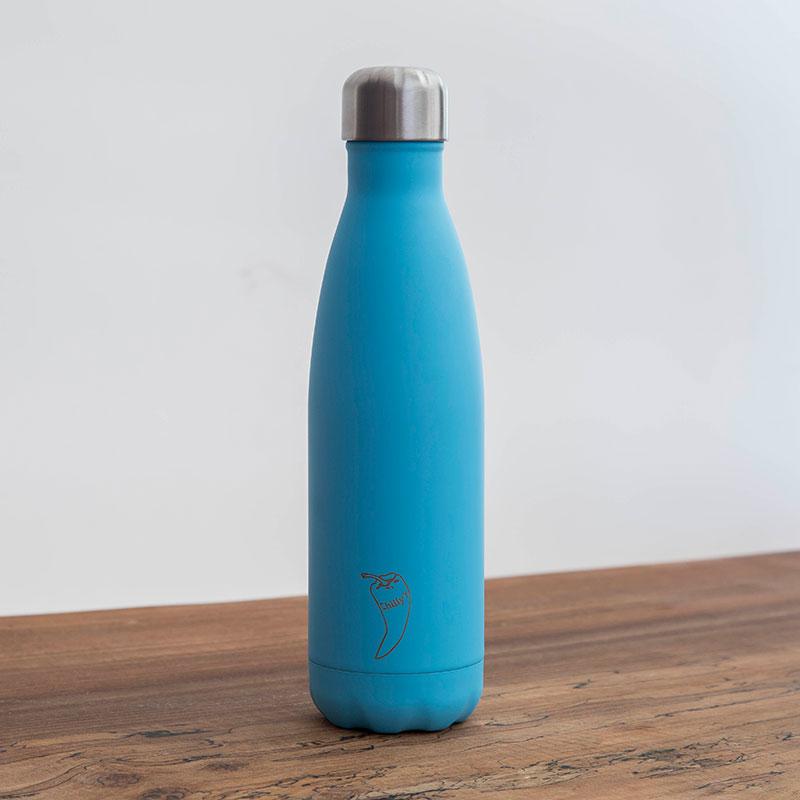 Botella Isotérmica Edición Pastel - Azul 500 ml -