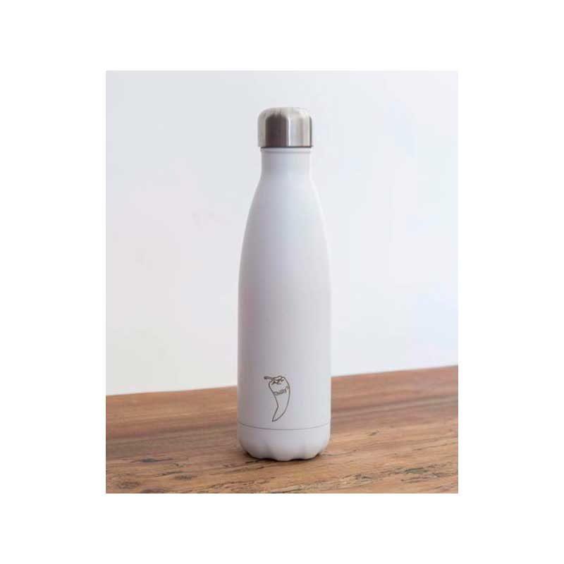 Botella Isotérmica Edición Matte - Blanco 500 ml -