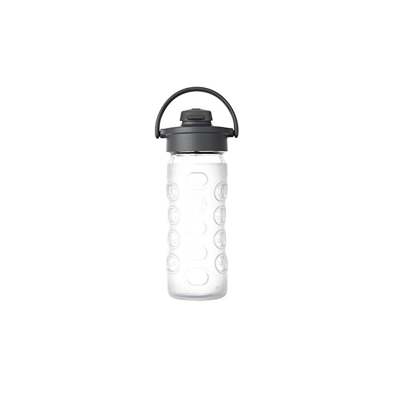 Botella 350 ml Lifefactory Flip Top Cap Transparente