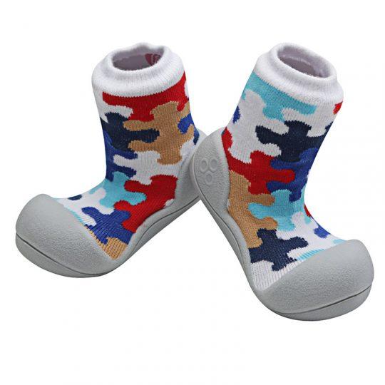 Zapatos Attipas Puzzle - Gris -