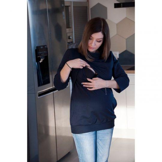 Camiseta 3 en 1 Embarazo/Lactancia Tola - Navy -