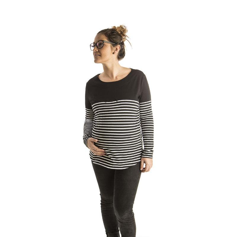 camiseta-embarazo-baobabs-office-stripes-monetes