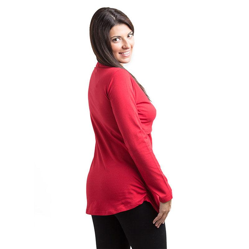 cfefd731b Camiseta básica manga larga Premamá Lactancia -Rojo- Monetes