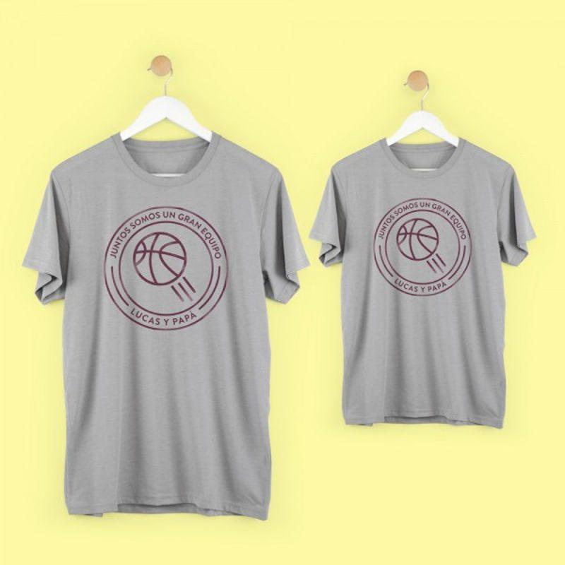 camiseta-equipo-papa-basket-gris-mamushka-monetes