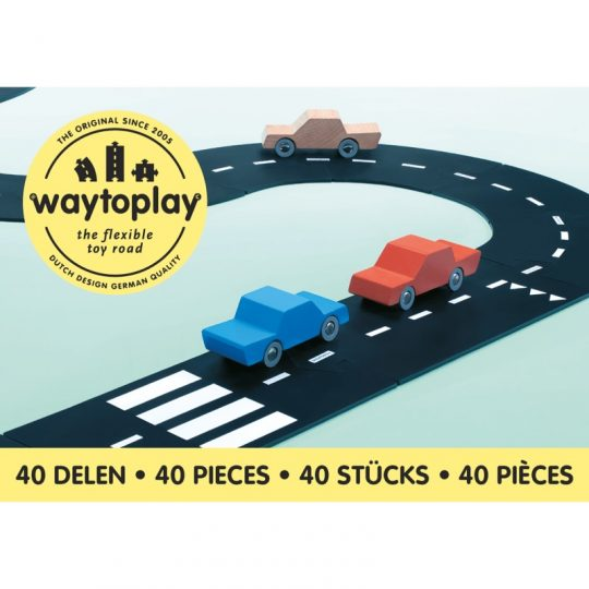 Carretera flexible de caucho Way To Play - 40 piezas -