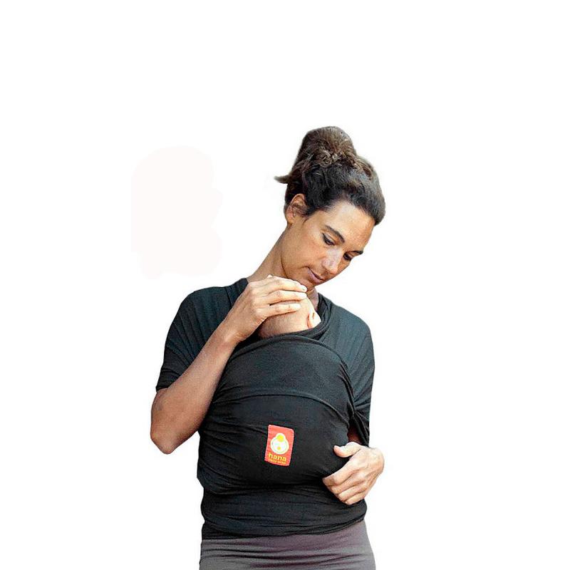 Fular elástico Hana Baby Organic Charcoal