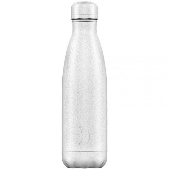 Botella Isotérmica Edición Glitter - Blanco 500ml