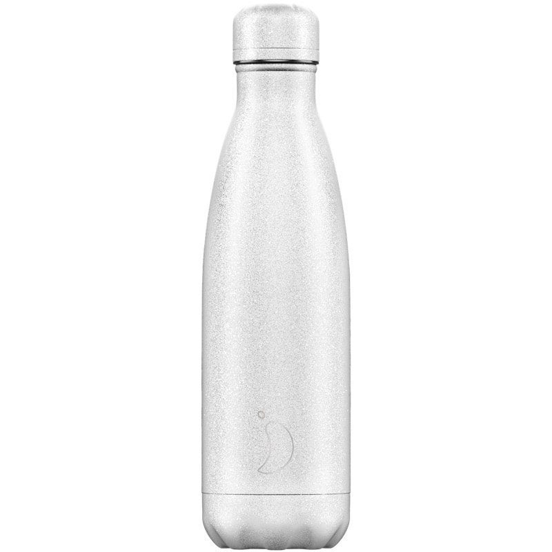 Botella Chilly's Glitter Blanco 500ml - Monetes