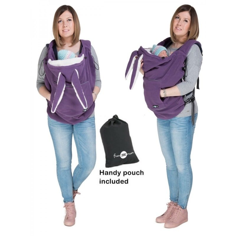 Cobertor de porteo Polar - Fleece Lilac - Monetes
