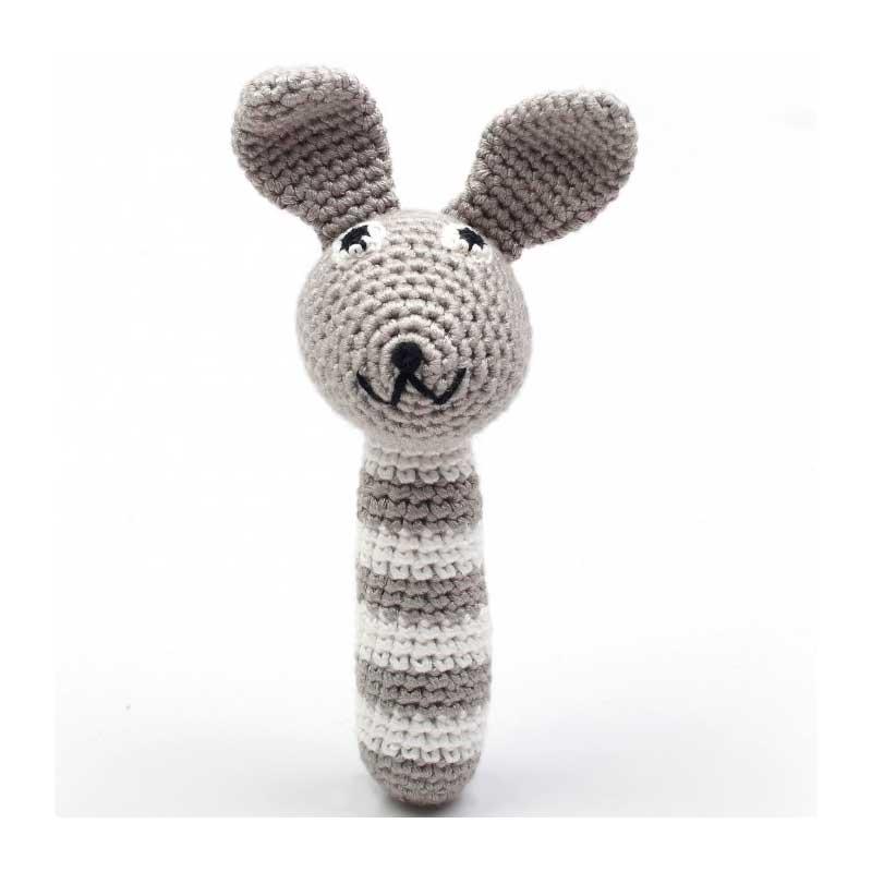 Sonajero Bambú Nature - Conejo Gris -