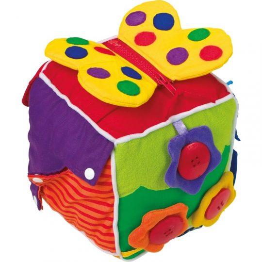 Cubo de tela sensorial para bebés