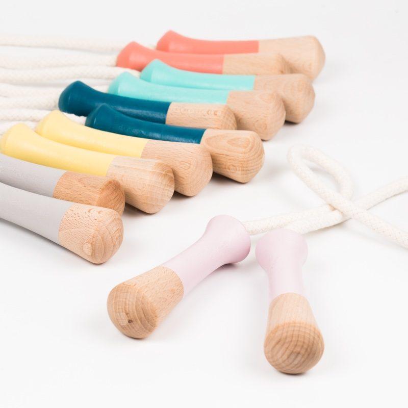Cuerdas para saltar a la comba de madera - Monetes