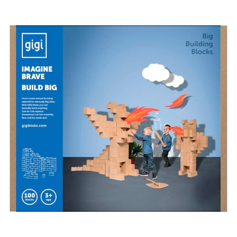 Gigi Bloks - Bloques de construcción 100 piezas XXL