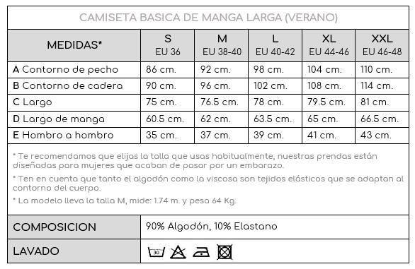 82131ca92 Camiseta básica manga larga Premamá Lactancia -Verde- Monetes