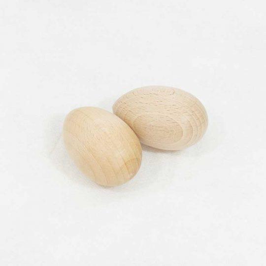 Huevo madera - Cesto de los tesoros