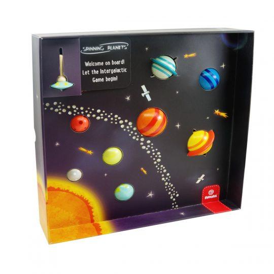 Spinning planets. 9 peonzas de planetas