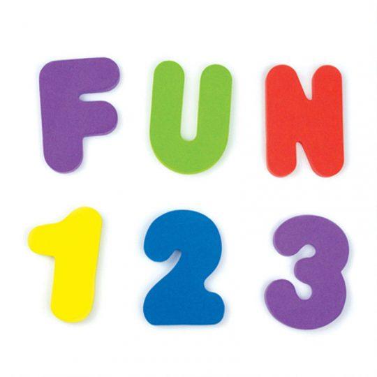 Juguete baño - Letras y números -