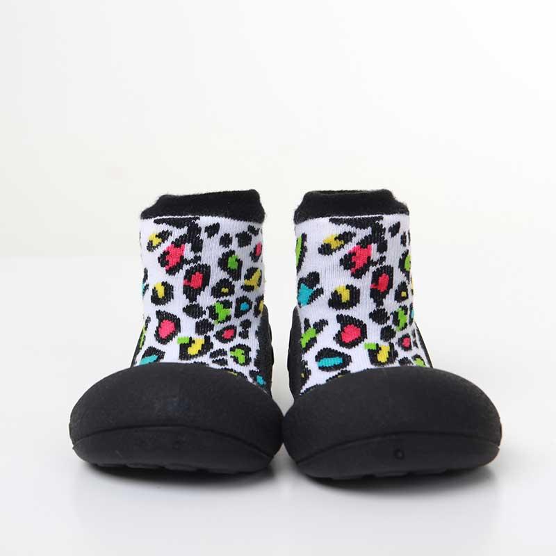 Zapatos Attipas Leopardo -negro-