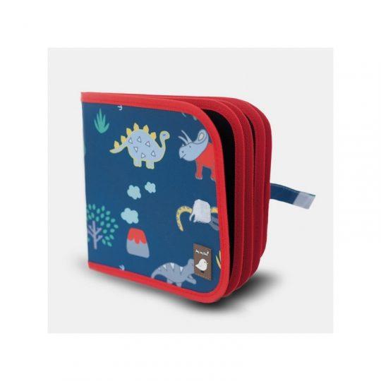 Libro pizarra para colorear + Tizas sin polvo - Dinos -