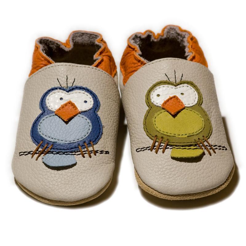 Calzado de suela blanda -Pájaros-