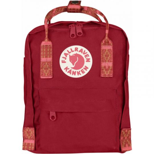 mochila-kanken-mini-deep-red-folk-pattern-monetes