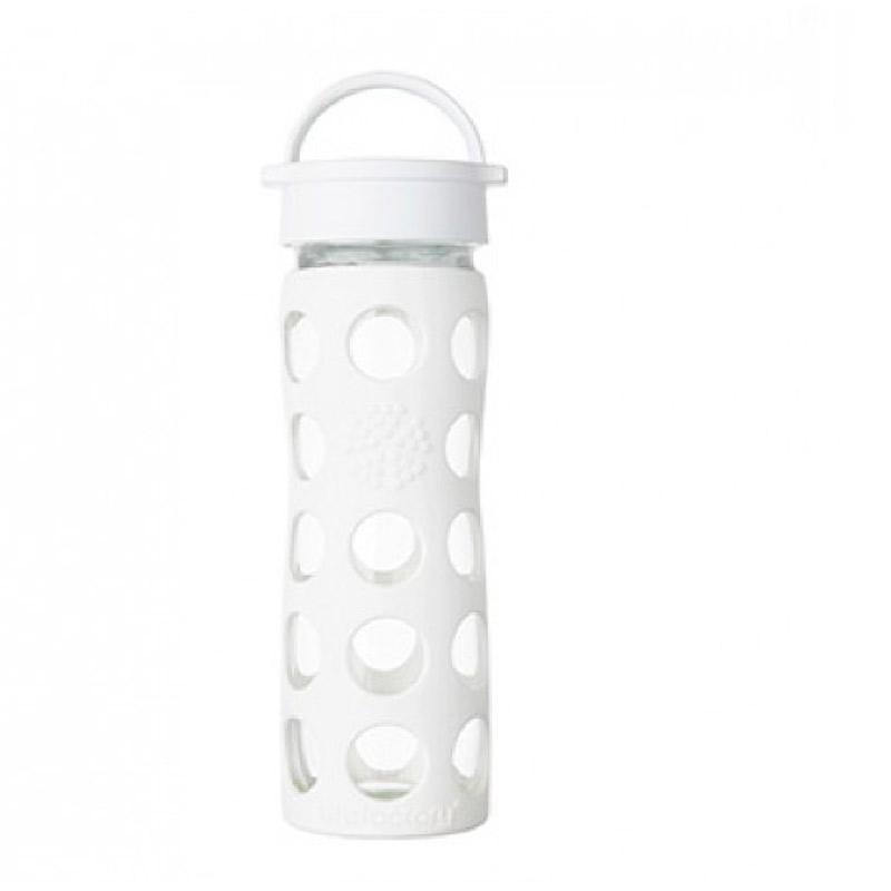 Botella 470 ml Lifefactory Classic Optic White