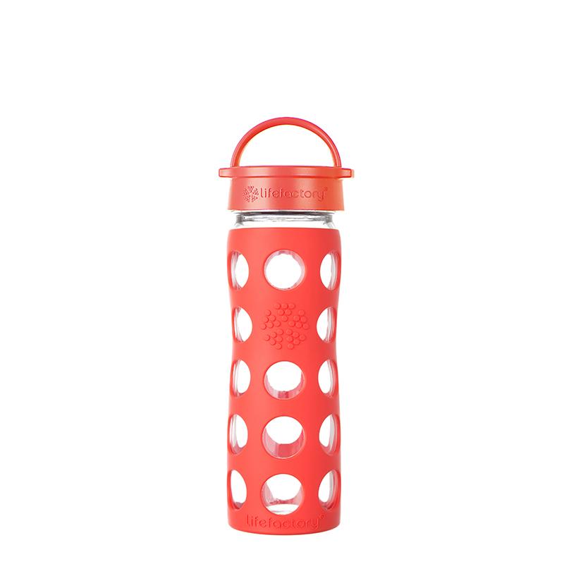 Botella 470 ml Lifefactory Classic Poppy Red