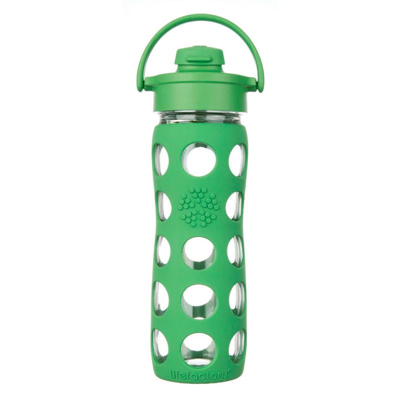 Botella 470 ml Lifefactory Flip Top Cap Grass Green