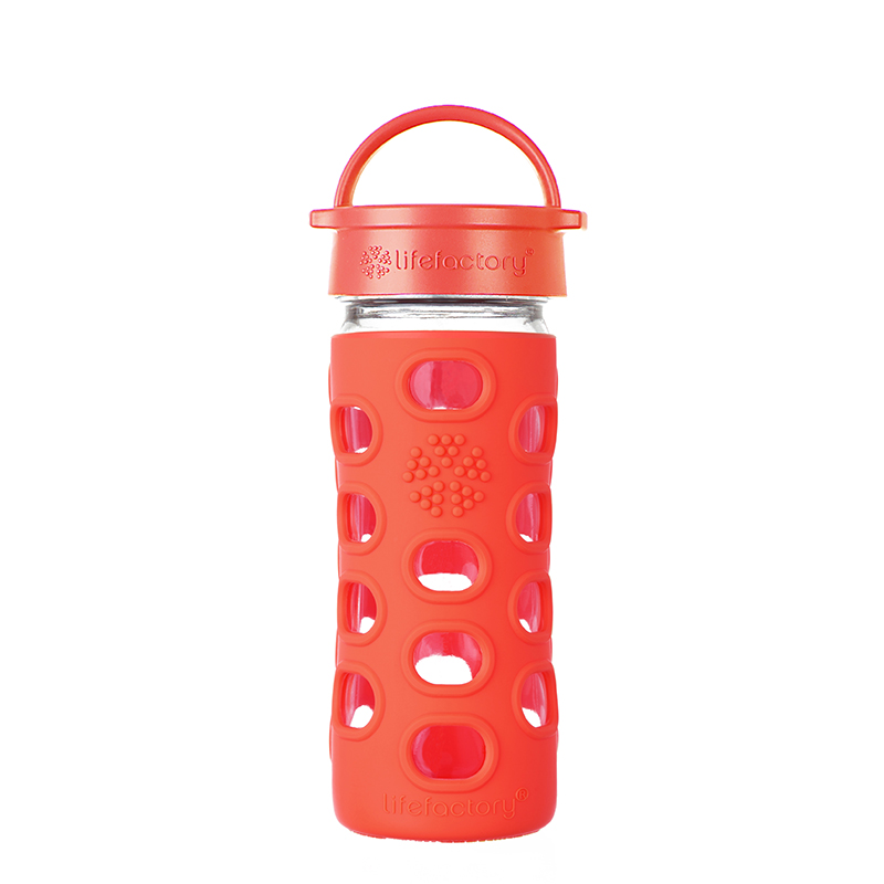 Botella 350 ml Lifefactory Classic Poppy Red