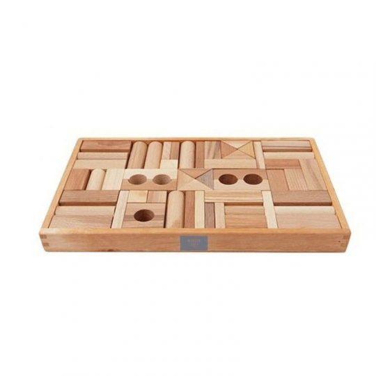 Bloques Natural en Bandeja - 54 piezas -
