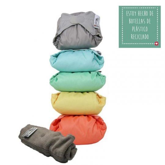 Pack 5 pañales de tela Pop In Bambú - varios colores -