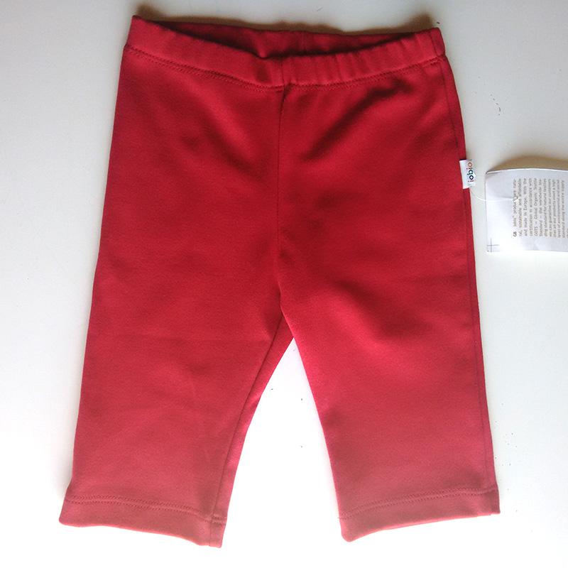 Pantalón básico Algodón Orgánico Rojo
