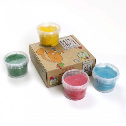 Pasta De Modelar Natural Bio Vegana (Rojo, Verde, Amarillo y Azul)