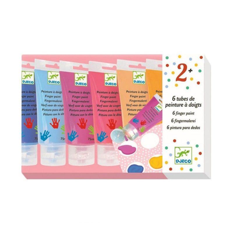 Pintura de dedos colores pastel 6 tubos - Monetes