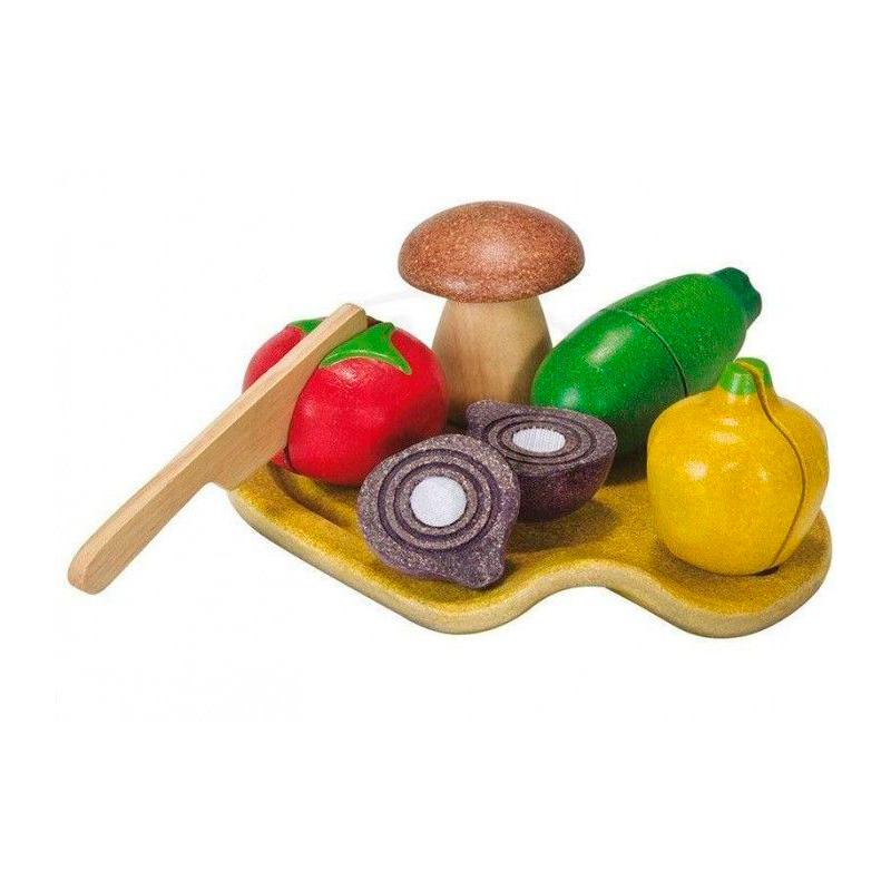 Bandeja verduras para cortar