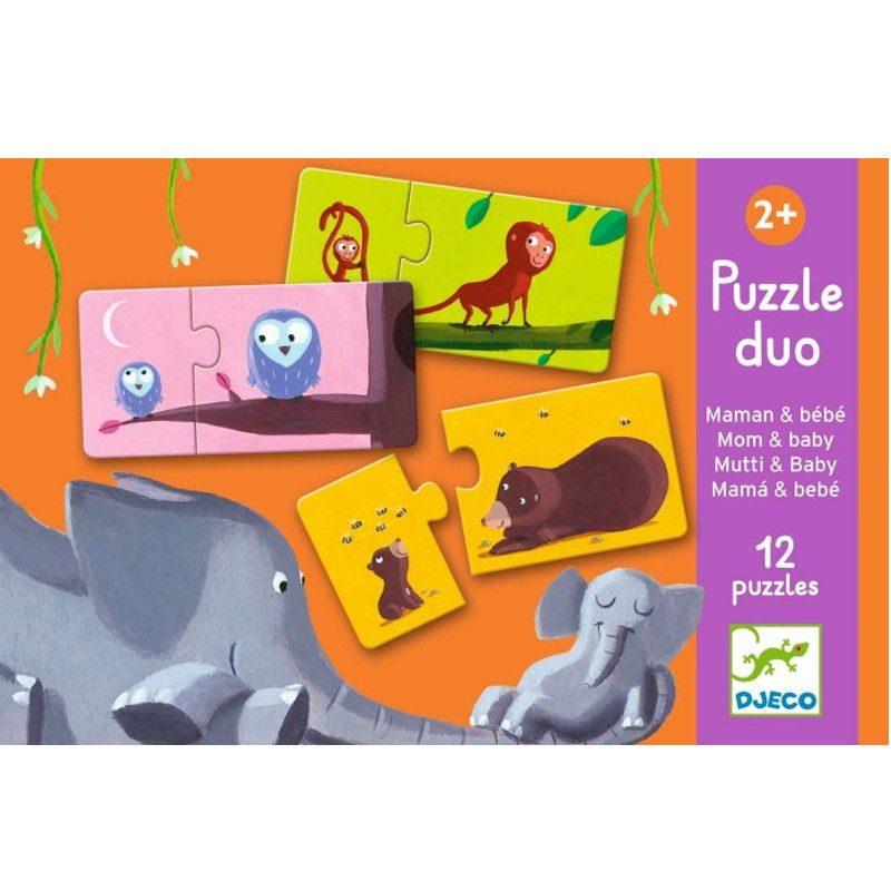 puzle-duo-djeco-mamas-bebes-monetes