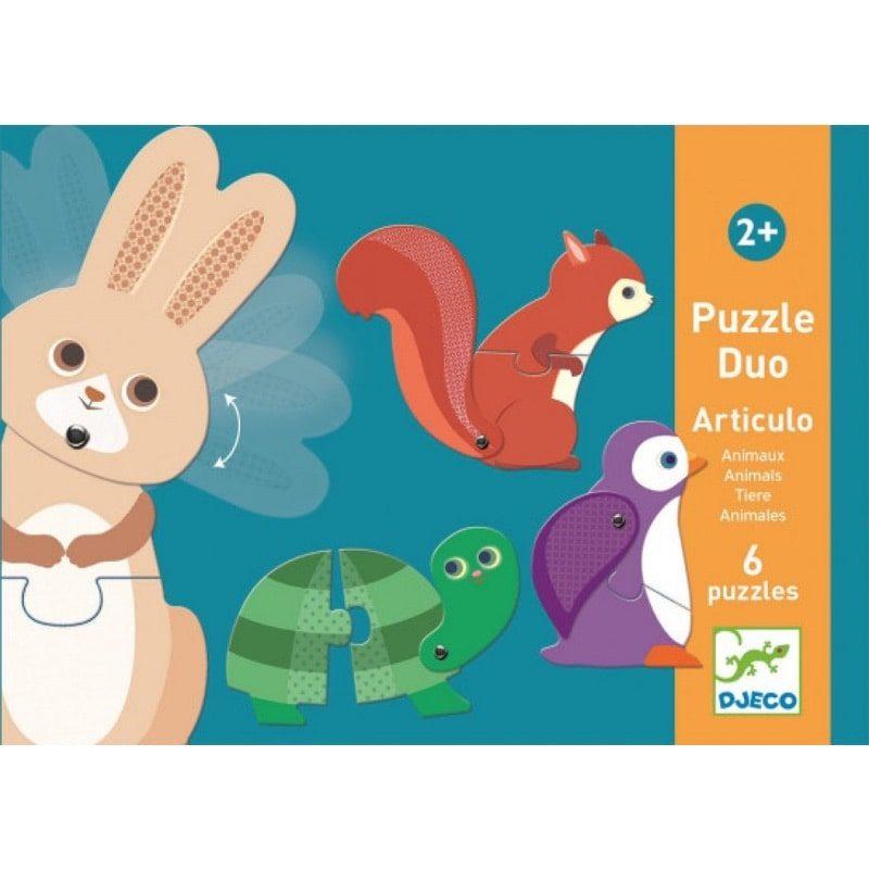 Puzzle Dúo articulado animales - Monetes
