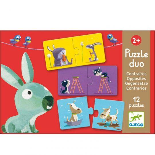 Puzzle dúo Contrarios