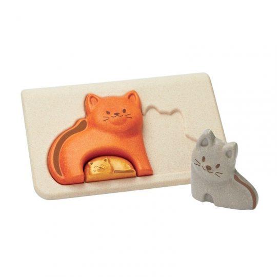 Puzzle encajable de gatitos