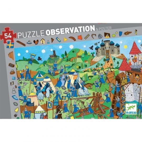 Puzzle Observación Caballeros - 54 piezas -